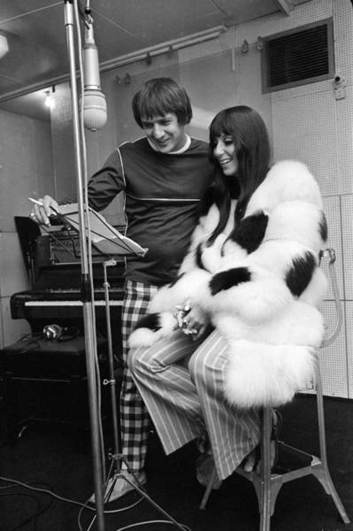 Sonny Bono Wall Art - Photograph - Recording Session by Powell
