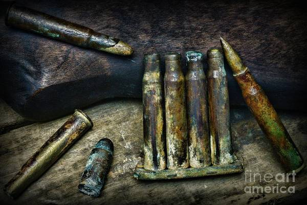 Wall Art - Photograph - Recovered Ww1 Ammo by Paul Ward