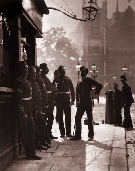 British Armed Forces Photograph - Recruiting Sergeants by John Thomson