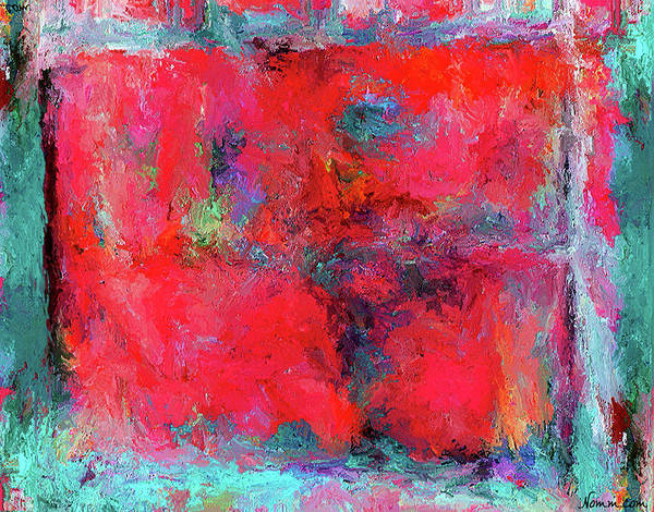Rectangular Red Art Print