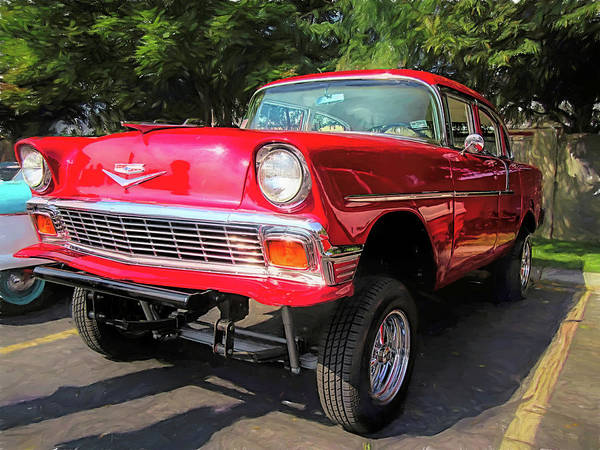 Photograph - Red 1956 Chevy Gasser by David King