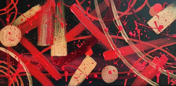 Wall Art - Painting - Red Abstract  by Jen Robinson