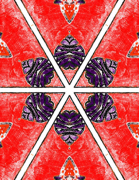 Painting - Red Abstract Pattern Painting 2 by Artist Dot