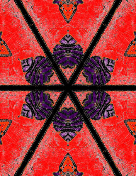 Painting - Red Abstract Pattern Painting 3 by Artist Dot