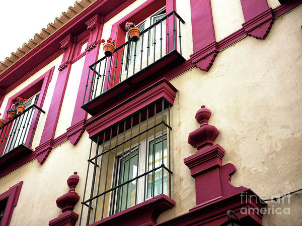 Photograph - Red Accent In Seville by John Rizzuto
