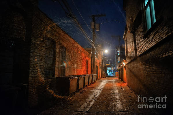 Haunted Wall Art - Photograph - Red Alley by Bruno Passigatti
