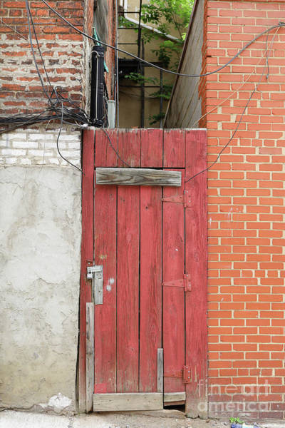 Wall Art - Photograph - Red Alley Door Chinatown Washington Dc by Edward Fielding