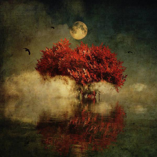 Digital Art - Red American Oak In A Dream by Jan Keteleer