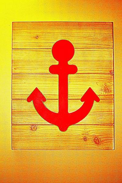 Photograph - Red Anchor Icon by Cynthia Guinn