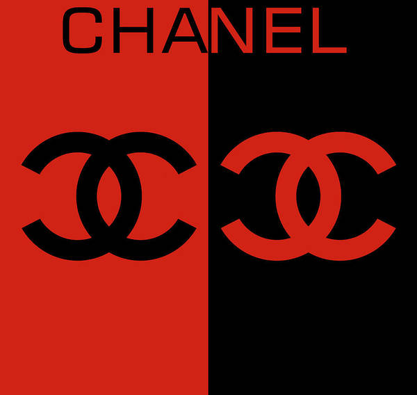 Digital Art - Red And Black Chanel by Dan Sproul