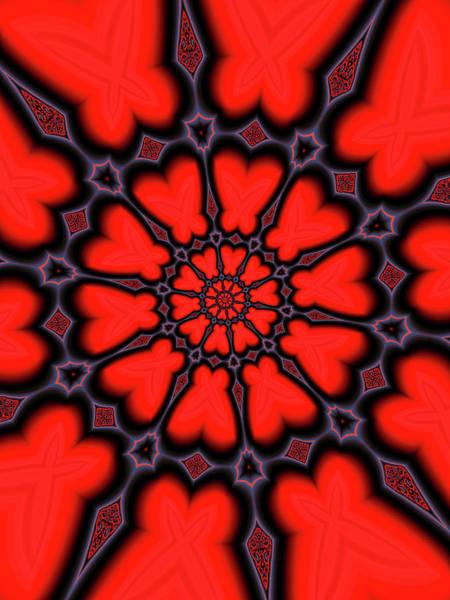 Wall Art - Digital Art - Red And Black Kaleidoscope Art by Matthias Hauser