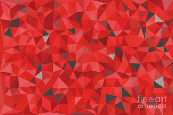 Wall Art - Digital Art - Red And Gray Triangular Pattern - Triangles Mosaic by Michal Boubin