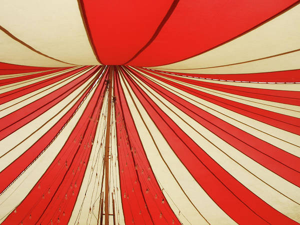 Tent Photograph - Red And White Canopy by Danishkhan