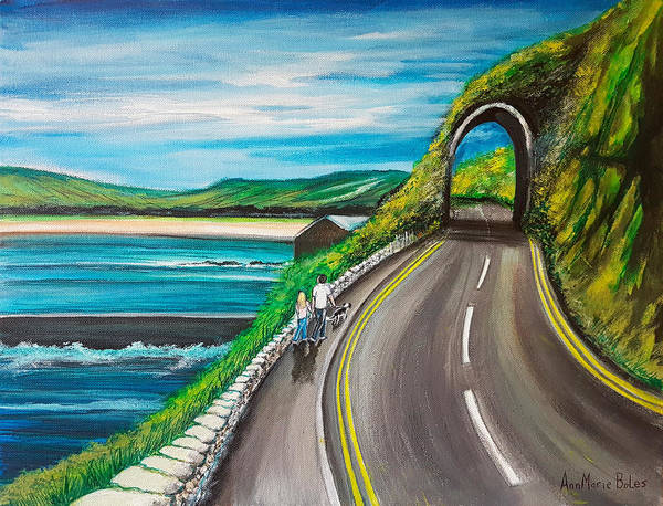Wall Art - Painting - Red Arch, Waterfoot by Annmarie Boles