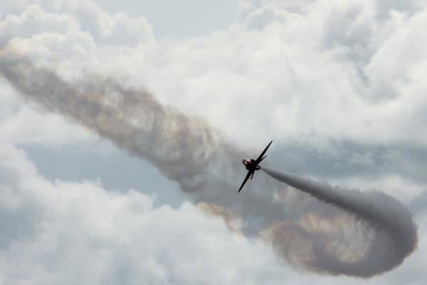 Photograph - Red Arrow Smoke Trail Turn by Scott Lyons