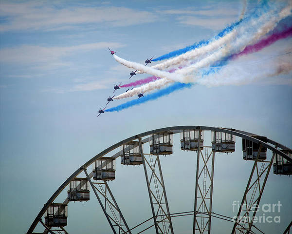 Photograph - Red Arrows Display by Edmund Nagele