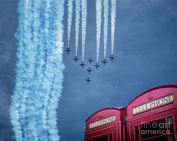 Photograph - Red Arrows by Edmund Nagele