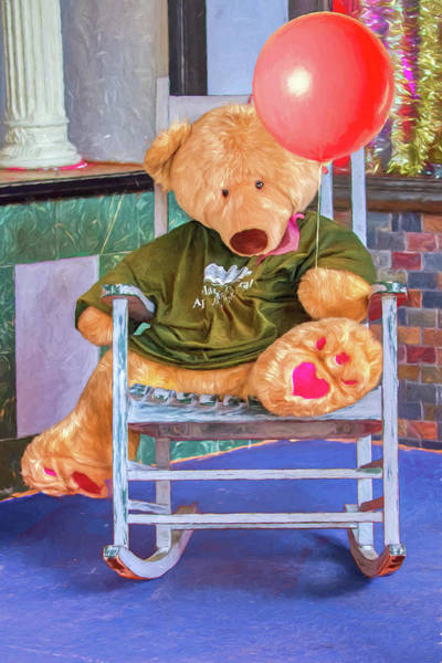Wall Art - Photograph - Red Balloon Bear by John Haldane