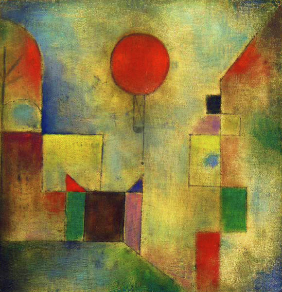 Wall Art - Painting - Red Balloon - Roter Ballon, 1922 by Paul Klee
