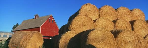 Bonneville County Photograph - Red Barn And Haystacks, Idaho Falls by Visionsofamerica/joe Sohm