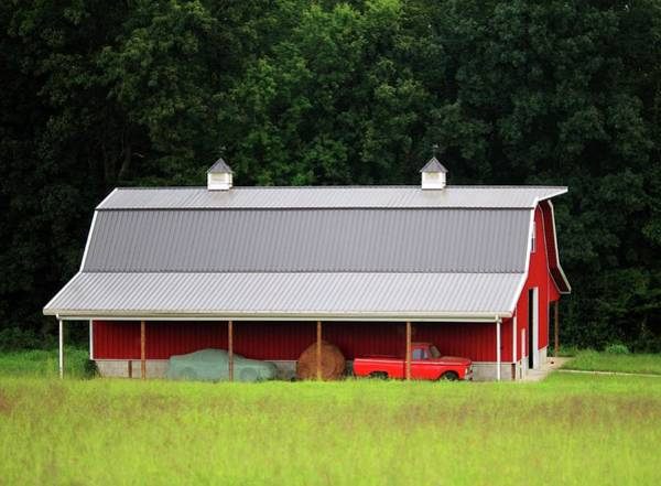 Photograph - Red Barn And Truck by Cynthia Guinn