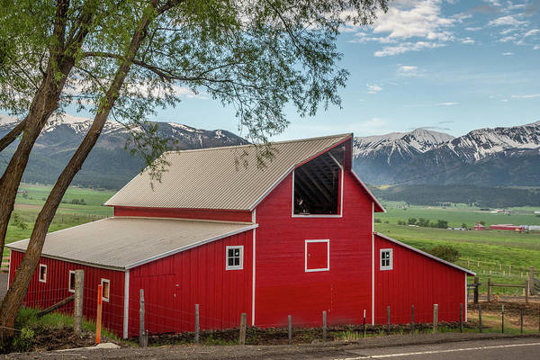 Photograph - Red Barn By The Road by Matthew Irvin