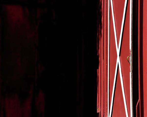 Photograph - Red Barn Door by Jerry Sodorff