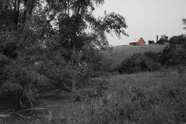 Wall Art - Photograph - Red Barn Hill by Dylan Punke