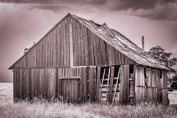 Photograph - Red Barn In Monochrome by Randy Bayne