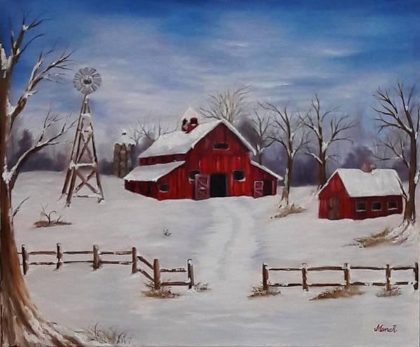 Painting - Red  Barn by Manar Hawsawi