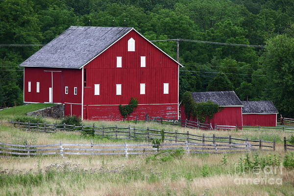 Photograph - Red Barn Near Cemetery Ridge Gettysburg by James Brunker