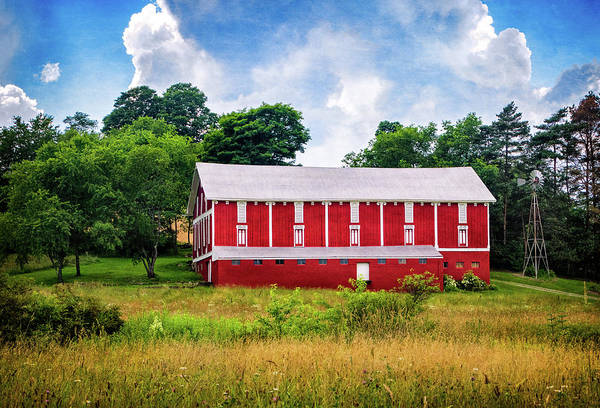 Photograph - Red Barn Near Donegal Pa by Carolyn Derstine