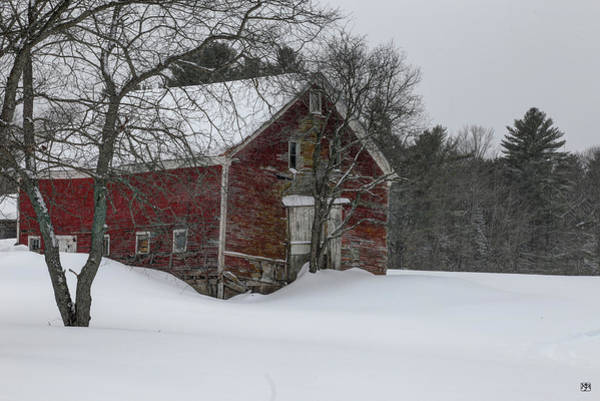 Photograph - Red Barn--new Sharon by John Meader