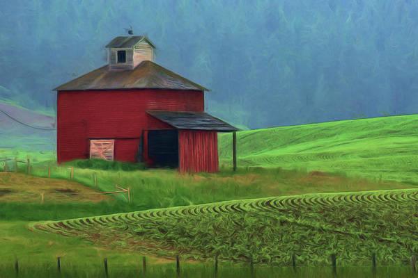Wall Art - Photograph - Red Barn - Palouse by Nikolyn McDonald