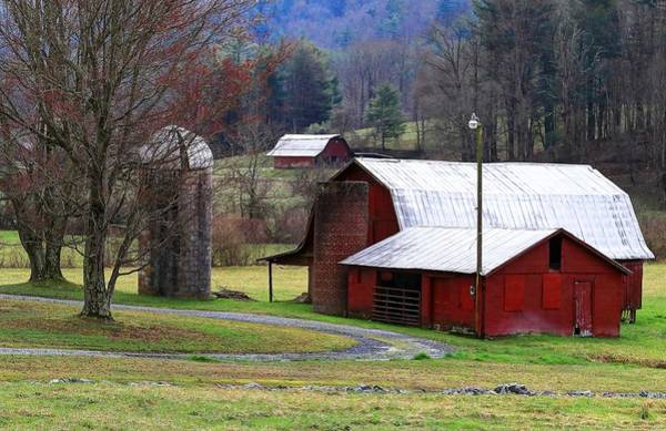 Photograph - Red Barns In Winter by Carol Montoya