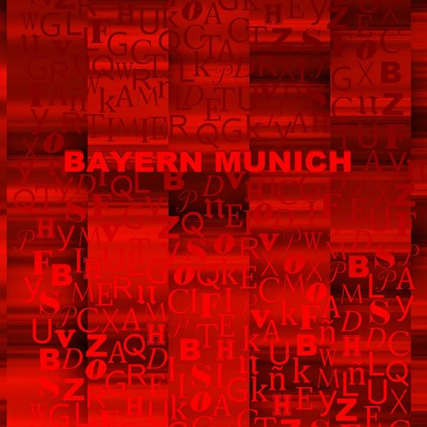 Digital Art - Red Bayern Munich by Alberto RuiZ