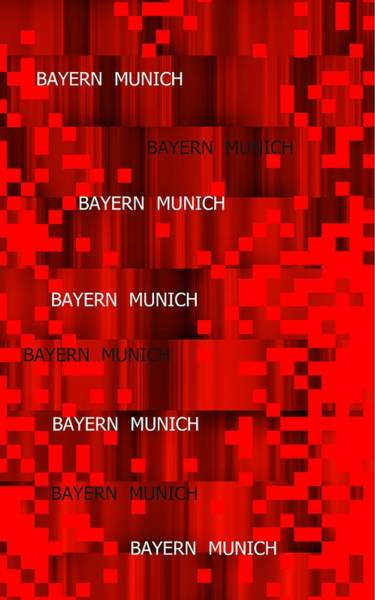 Digital Art - Red Bayern Munich Pixels by Alberto RuiZ