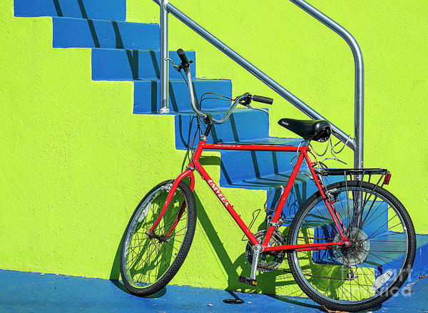 Wall Art - Photograph - Red Bicycle by Lenore Locken