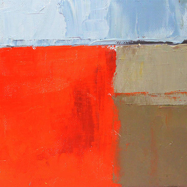 Wall Art - Painting - Red Block Abstract by Nancy Merkle