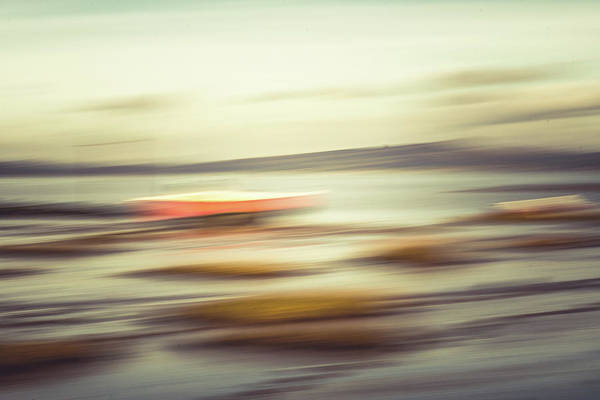 Wall Art - Photograph - Red Boat Blur 1 by David Ridley