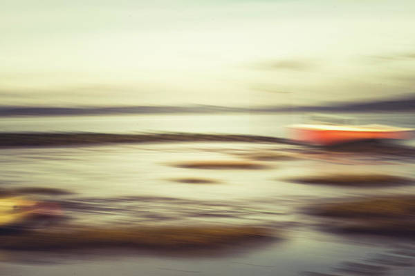 Wall Art - Photograph - Red Boat Blur 2 by David Ridley
