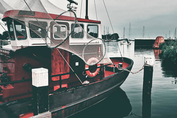 Raft Wall Art - Photograph - Red Boat Retro by Mihaela Pater