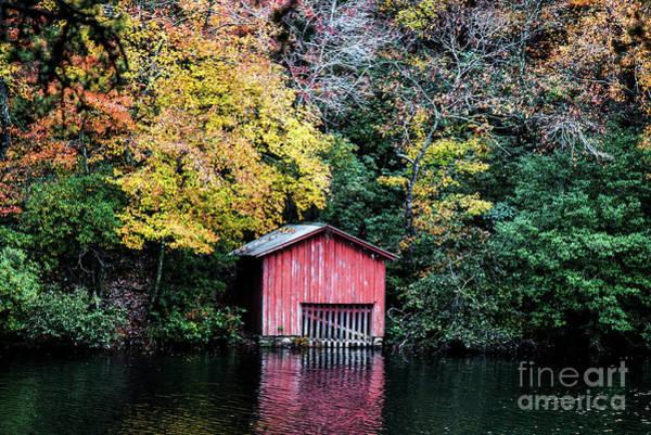 Wall Art - Photograph - Red Boathouse by Anita Faye