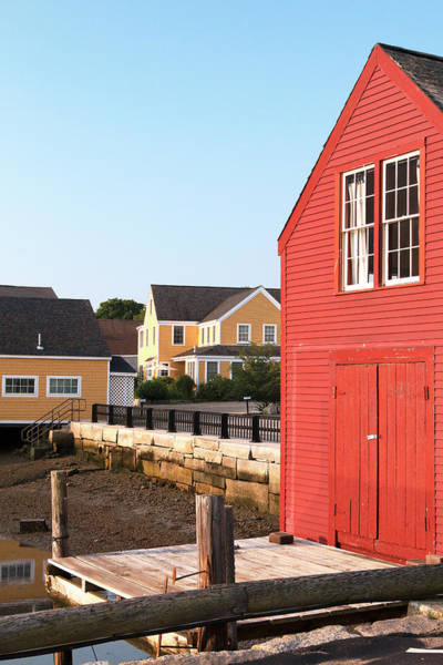 Wall Art - Photograph - Red Boathouse In Portsmouth by Eric Gendron