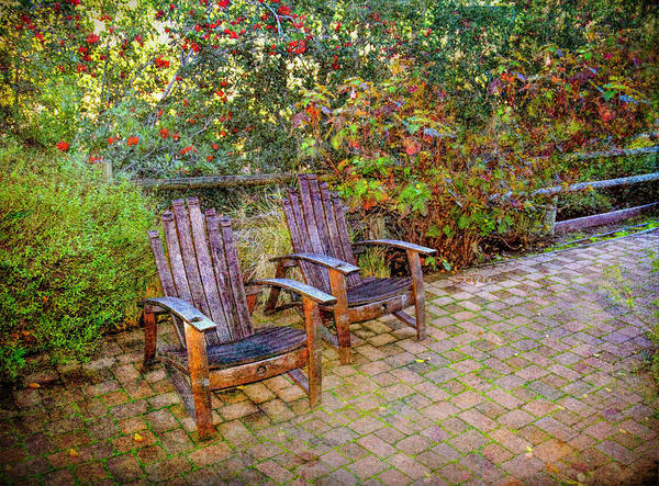 Photograph - Red Brick Patio  by Floyd Snyder