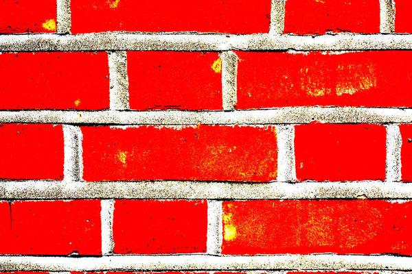 Digital Art - Red Brick Wall by Artist Dot
