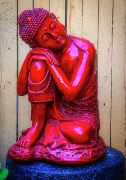 Wall Art - Photograph - Red Buddha Dreaming by Garry Gay