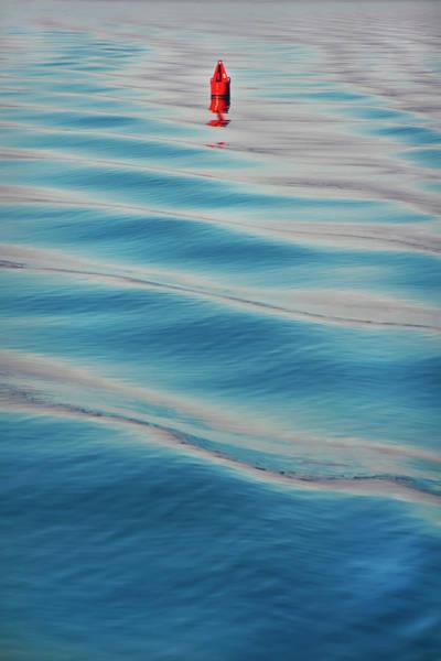 Wall Art - Photograph - Red Buoy Nautical Art by Joann Vitali