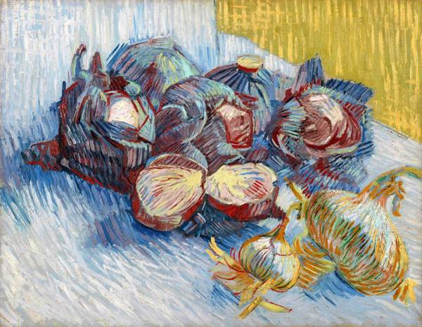 Wall Art - Painting - Red Cabbages And Onions - Digital Remastered Edition by Vincent van Gogh