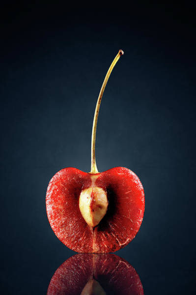 Bright Photograph - Red Cherry Still Life by Johan Swanepoel